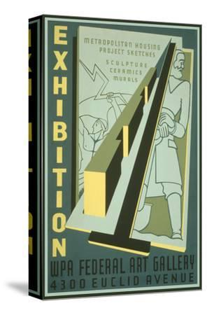 Poster for Wpa Art Exhibition--Stretched Canvas Print