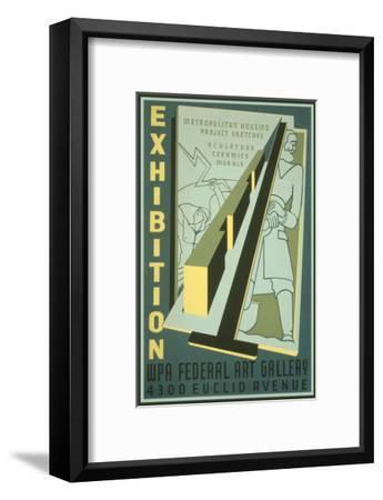 Poster for Wpa Art Exhibition--Framed Art Print