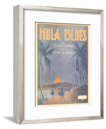Sheet Music for Hula Blues--Framed Art Print