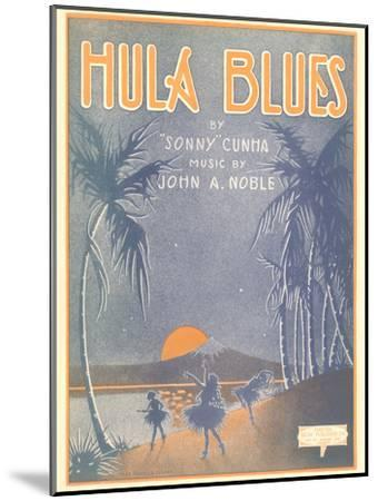 Sheet Music for Hula Blues--Mounted Art Print