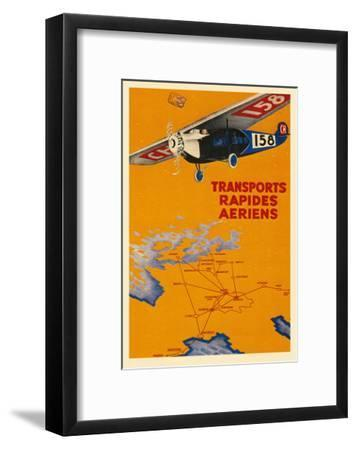 Early French Air Routes, Monoplane--Framed Art Print