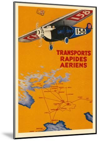 Early French Air Routes, Monoplane--Mounted Art Print