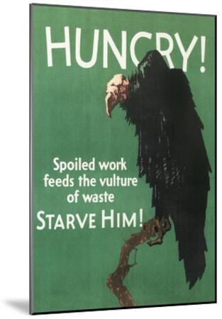Hungry Vulture Poster--Mounted Art Print
