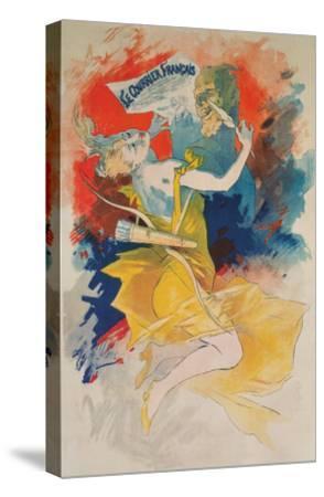 Le Courrier Francais Poster--Stretched Canvas Print