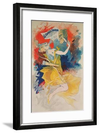 Le Courrier Francais Poster--Framed Art Print