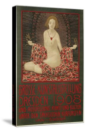 Poster for Dresden Art Exhibition--Stretched Canvas Print
