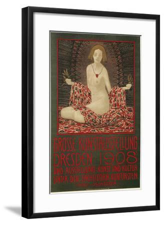 Poster for Dresden Art Exhibition--Framed Art Print