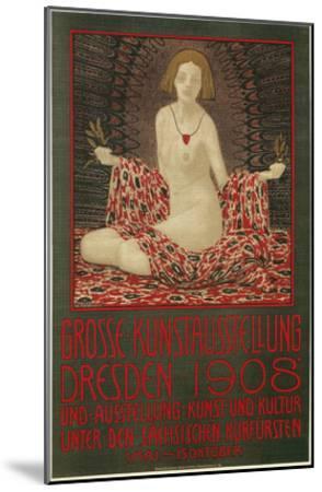Poster for Dresden Art Exhibition--Mounted Art Print
