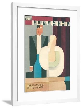 Art Deco Playgoer Magazine Cover--Framed Art Print