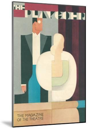 Art Deco Playgoer Magazine Cover--Mounted Art Print