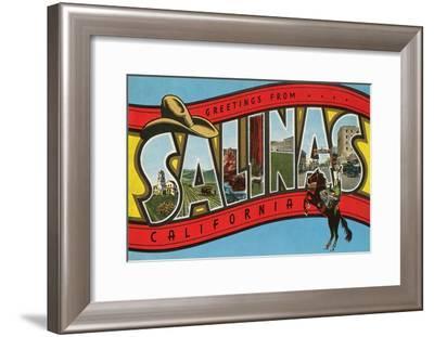 Greetings from Salinas, California--Framed Art Print