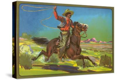 Mexican Vaquero with Lasso--Stretched Canvas Print