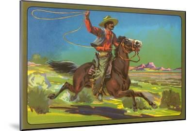 Mexican Vaquero with Lasso--Mounted Art Print