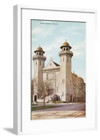 Temple Emanuel, Denver, Colorado--Framed Art Print