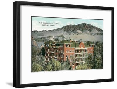 Boulderado Hotel, Boulder, Colorado--Framed Art Print
