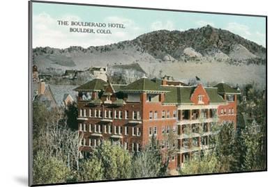 Boulderado Hotel, Boulder, Colorado--Mounted Art Print