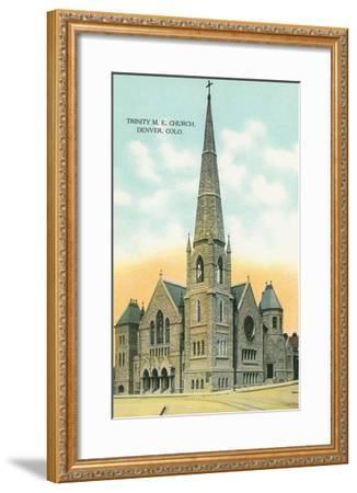 Trinity M.E. Church, Denver, Colorado--Framed Art Print