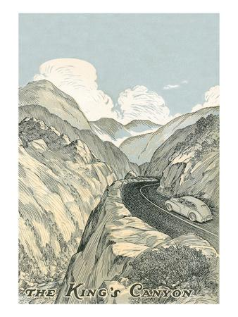 King's Canyon Poster--Stretched Canvas Print