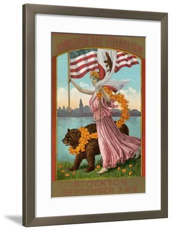Admission Day Poster, Stockton--Framed Art Print