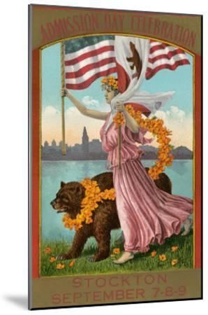 Admission Day Poster, Stockton--Mounted Art Print