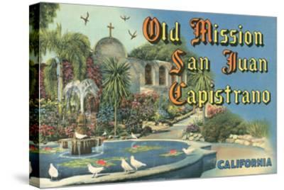 San Juan Capistrano Mission--Stretched Canvas Print