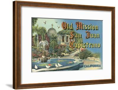 San Juan Capistrano Mission--Framed Art Print