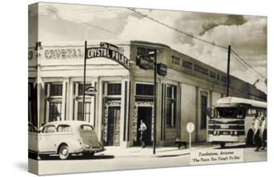 Bus Depot, Tombstone, Arizona--Stretched Canvas Print