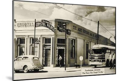 Bus Depot, Tombstone, Arizona--Mounted Art Print