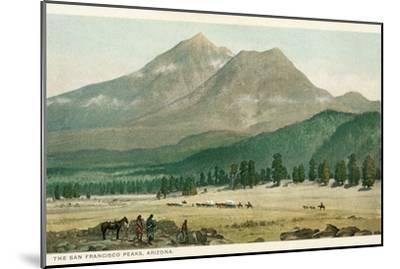 San Francisco Peaks, Arizona--Mounted Art Print