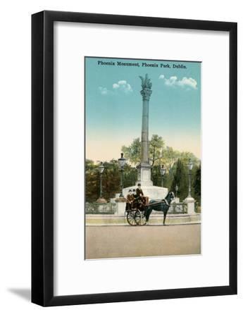 Phoenix Monument, Dublin, Ireland--Framed Art Print