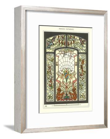 Art Nouveau Stained Glass--Framed Art Print