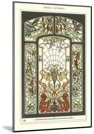 Art Nouveau Stained Glass--Mounted Art Print