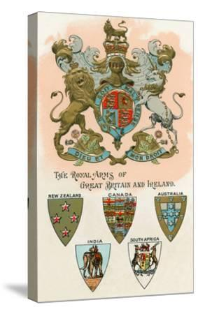 Royal Arms of Great Britain and Ireland--Stretched Canvas Print