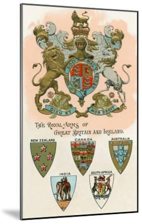 Royal Arms of Great Britain and Ireland--Mounted Art Print