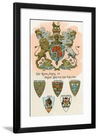 Royal Arms of Great Britain and Ireland--Framed Art Print