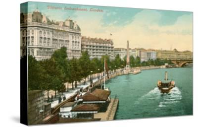 Victoria Embankment, London, England--Stretched Canvas Print