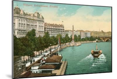 Victoria Embankment, London, England--Mounted Art Print