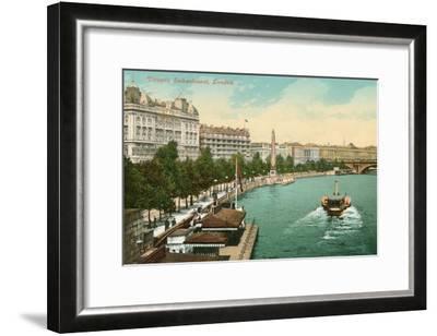 Victoria Embankment, London, England--Framed Art Print