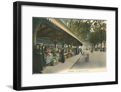 Flower Market, Cannes, France--Framed Art Print