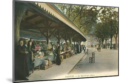 Flower Market, Cannes, France--Mounted Art Print