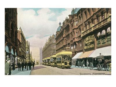 Deansgate, Manchester, England--Framed Art Print