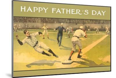 Happy Father's Day, Old Time Baseball Game--Mounted Art Print