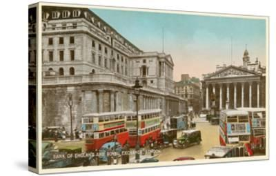 Bank of England, Royal Exchange, London--Stretched Canvas Print