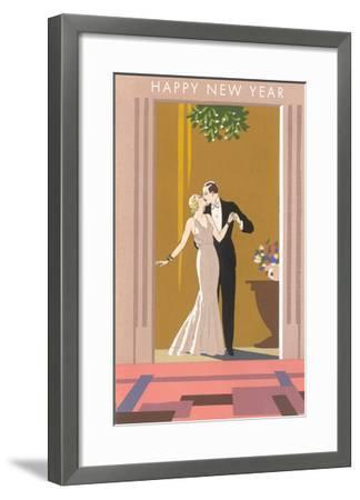 Happy New Year, Patricians Kissing--Framed Art Print
