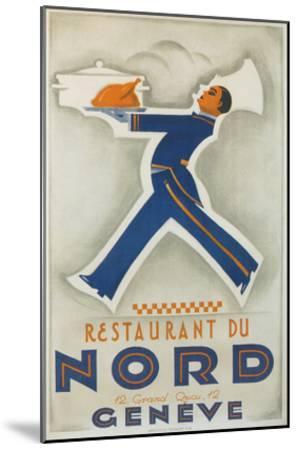 Restaurant Du Nord. Geneve, Switzerland--Mounted Art Print