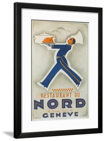 Restaurant Du Nord. Geneve, Switzerland--Framed Art Print