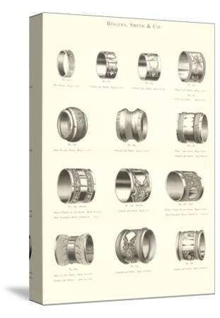 Variety of Engraved Napkin Rings--Stretched Canvas Print