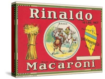 Rinaldo Macaroni Label--Stretched Canvas Print