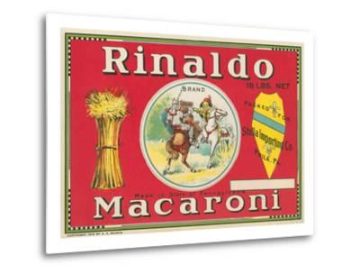 Rinaldo Macaroni Label--Metal Print