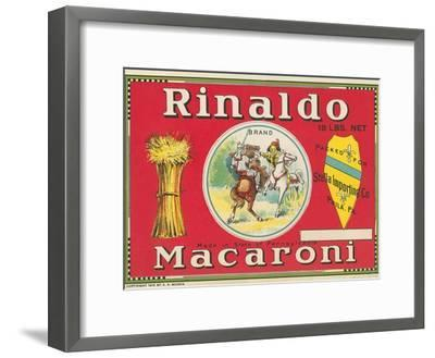 Rinaldo Macaroni Label--Framed Art Print